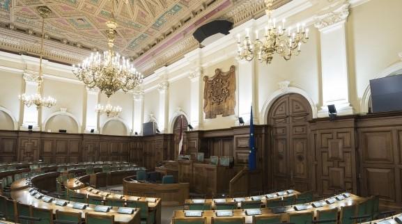 Latvian Saeima hall